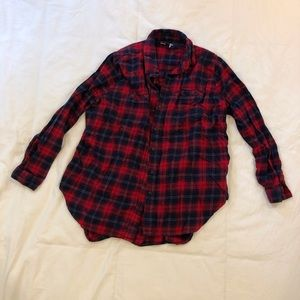 BDG urban outfitters red plaid flannel shirt